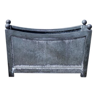 Chinon Planter, Small, Zinc For Sale