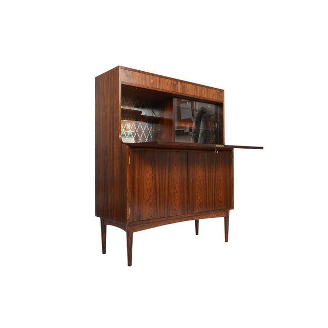 Danish Modern Rosewood Secretary Bar - Image 3 of 9