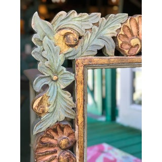 Rustic Carved Wood Shell Mirror Preview