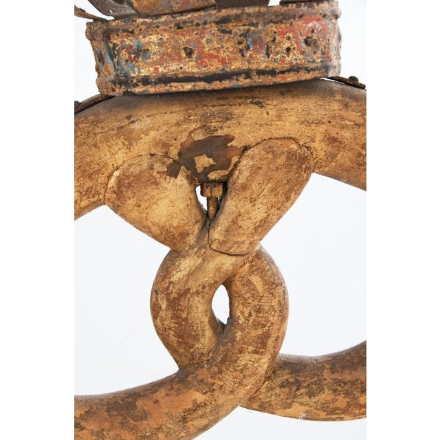 Gilt Tole and Wood Pretzel Sign Royal Warrant - Image 4 of 5