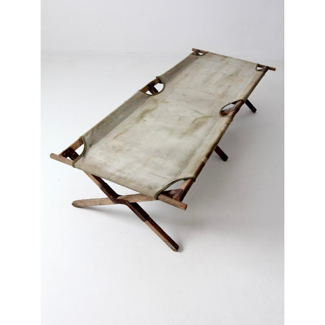 Vintage 1940s Army Cot For Sale - Image 6 of 12