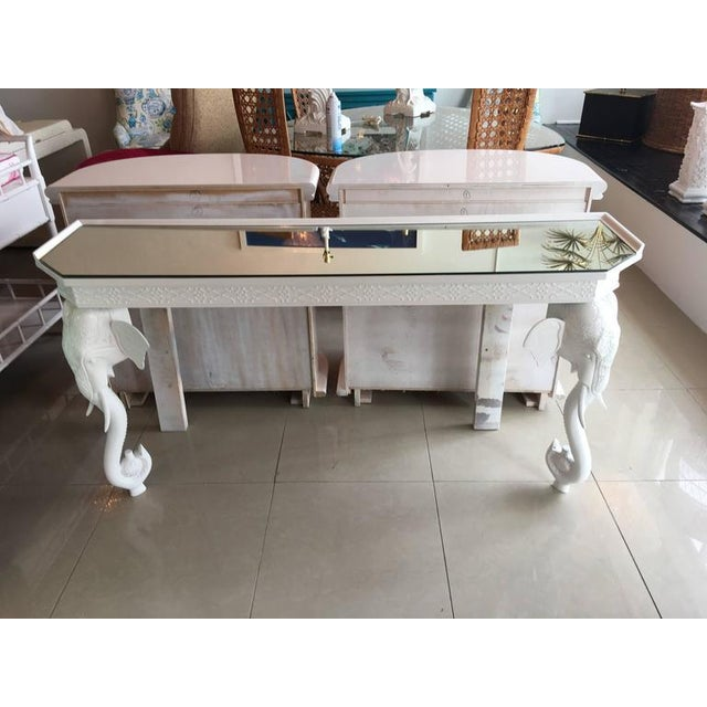 Gampel-Stoll White Elephant Console Table - Image 10 of 12
