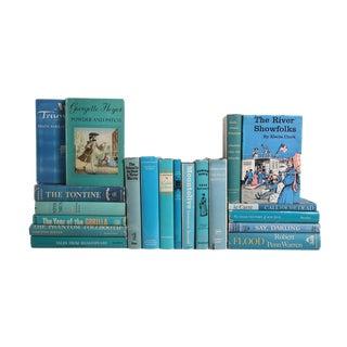 """""""Caribbean Sky"""" Dust Jacket MIX - Set of Twenty Decorative Books"""