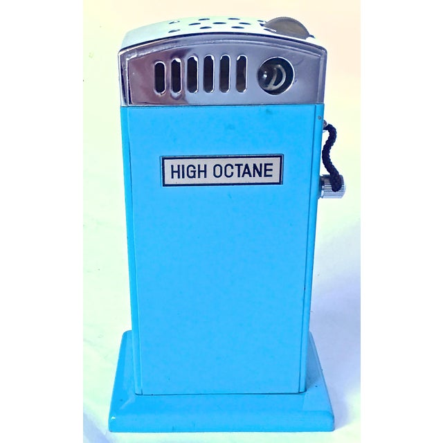 vintage gas pump high octane cigarette lighter chairish. Black Bedroom Furniture Sets. Home Design Ideas