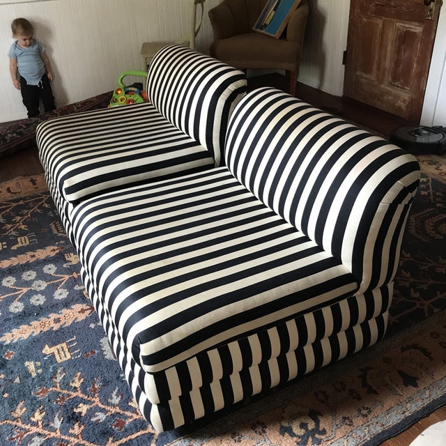 Mid-Century Modern Vintage Directional Slipper Chairs - a Pair For Sale - Image 3 of 13