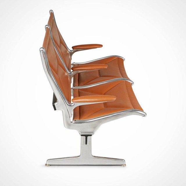 Contemporary Edelman Leather Two-Seat Tandem Sling by Charles Eames for Herman Miller For Sale - Image 3 of 11