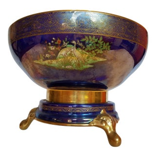 1920-1926 English Carlton Ware 'Persian' Lustre Ware Footed Bowl For Sale