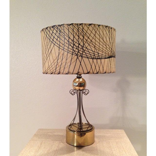 Atomic Era Brass Table Lamp - Image 2 of 6