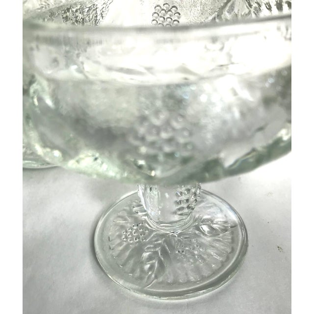 Mid 20th Century Vintage French Pressed Glass Coupe Champagne/Sorbet Glasses-Set of Three For Sale - Image 5 of 7