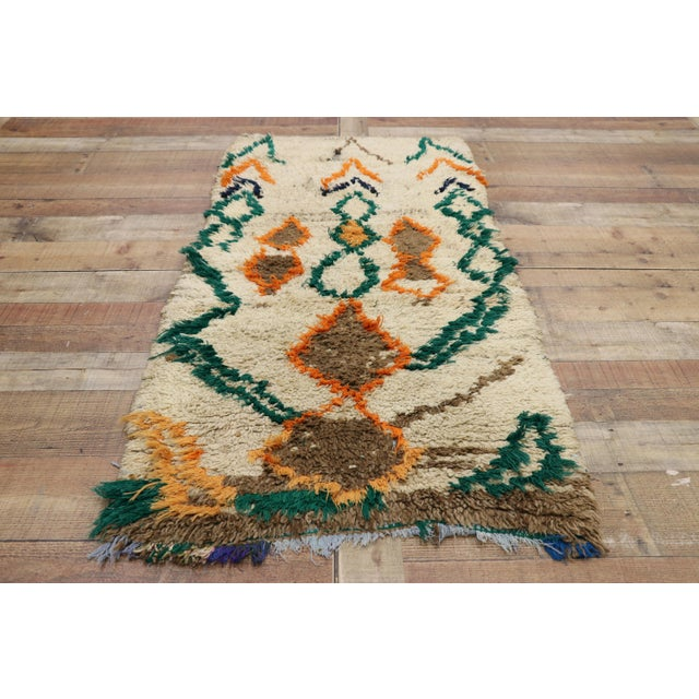 Textile 1970s Vintage Berber Moroccan Azilal Rug - 2′5″ × 4′10″ For Sale - Image 7 of 10