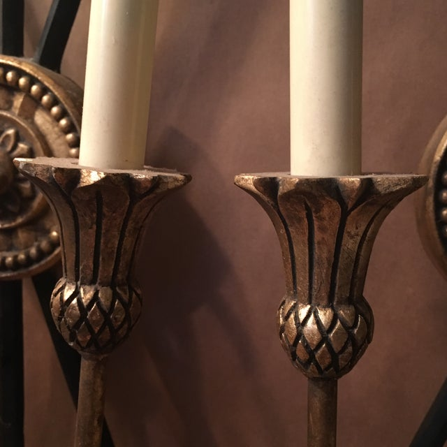 Neoclassical Arrow Sconces - A Pair - Image 4 of 8