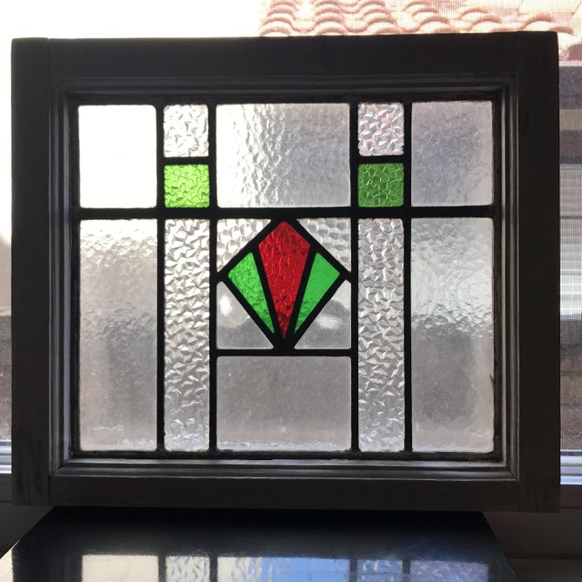 Antique Cottage Stained Glass Window - Image 3 of 9