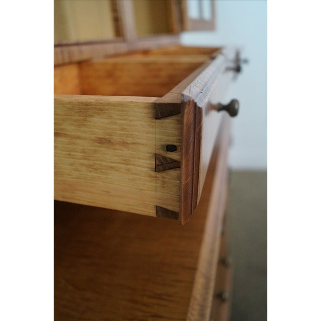 Custom Crafted Tiger Maple Dutch Cupboard - Image 8 of 10