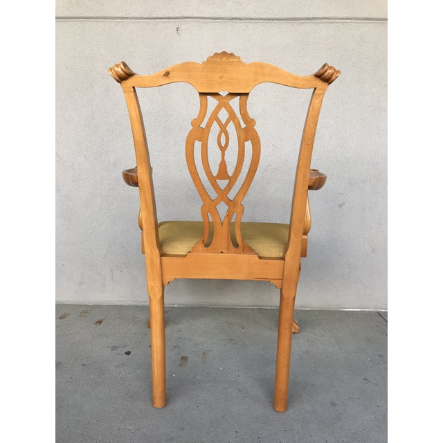 20th Century Boston Style Chippendale Mahogany Ball and Claw Foot Chairs - Set of 8 For Sale - Image 11 of 13