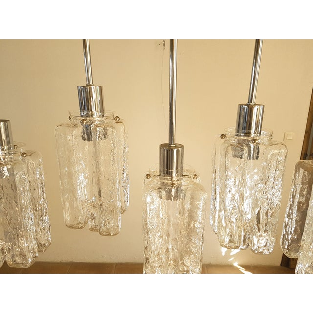 Contemporary d'Lightus Chrome & Murano Glass Bespoke Chandelier For Sale In Boston - Image 6 of 11