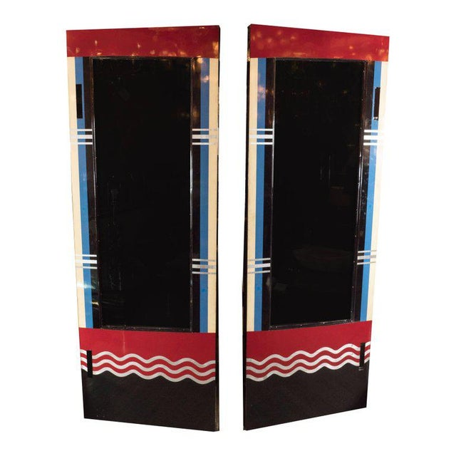 Art Deco Art Deco Bakelite and Black Lacquer Doors or Theatre Screens by Robert Eberson For Sale - Image 3 of 11