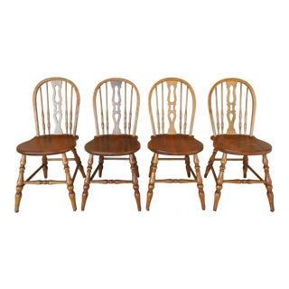 Stickley Bros. Grand Rapids Set of 4 Hoop Back Cherry Side Chairs Model 765 1/2 For Sale