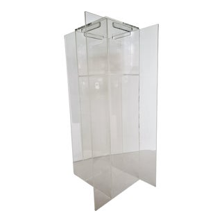 Mid Century Modern Lucite Pedestal Display Stand For Sale
