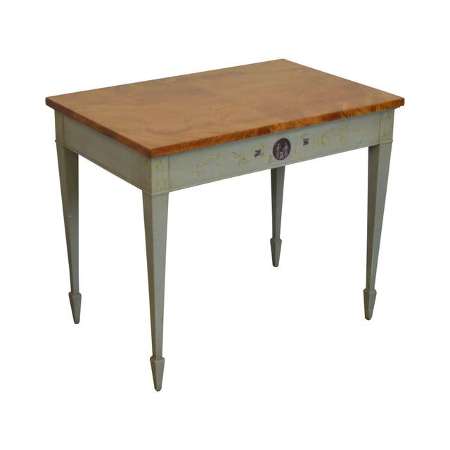 Schmieg & Kotzian Adams Hand Painted One Drawer Side Table For Sale - Image 12 of 12