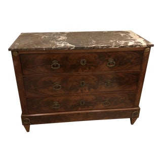 Vintage French Marble Top Commode For Sale