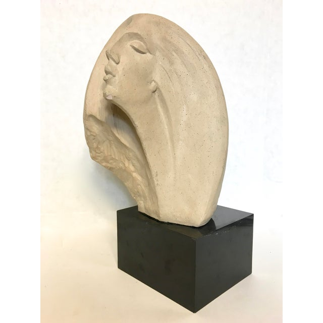 "A signed sculpture of a woman ""Star Gazer"" by David Fisher for Austin Productions Inc. dated 1980. A stylized contemporary..."
