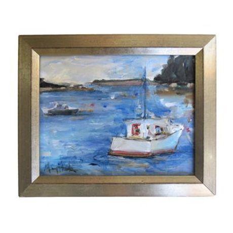 """Mary Houston Acrylic on Canvas """"Safe Harbor"""" - Image 1 of 2"""