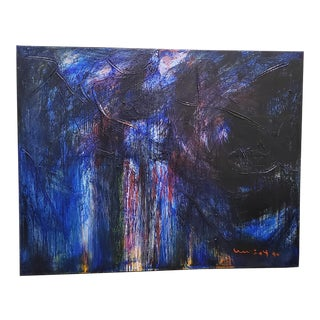 Sachio Yamashita Towering Modernist Abstract Oil Painting 20th C. For Sale