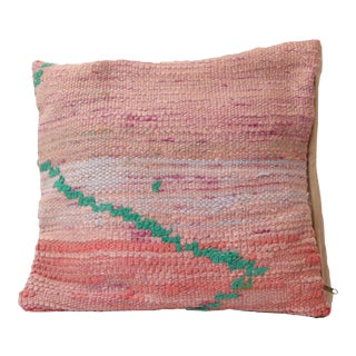 Moroccan Pink Boho Vintage Pillow Cover For Sale
