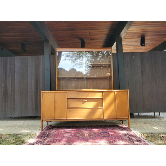 Mid-Century Modern Drexel Parallel China Cabinet For Sale - Image 13 of 13