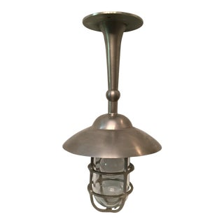 Nautical Style Bulkhead Fixed Pendant For Sale