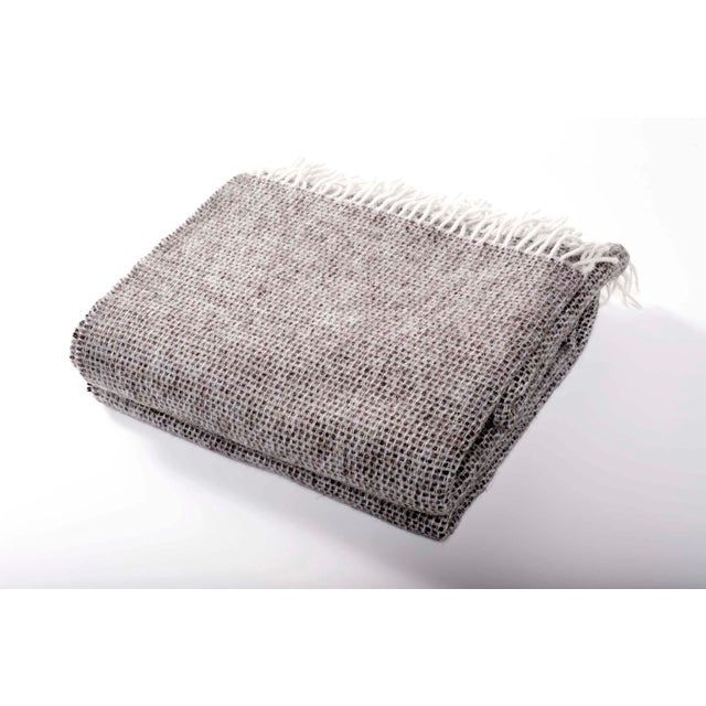 Contemporary Charcoal Chalet Throw For Sale - Image 4 of 4