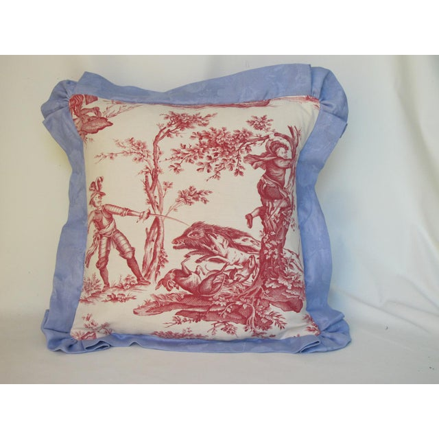 Antique 1880s Don Quixote Scene Toile Pillow For Sale - Image 4 of 4