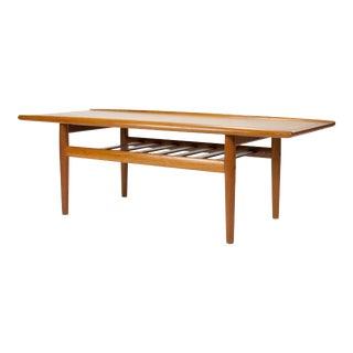 1960s Danish Modern Grete Jalk Teak Coffee Table For Sale