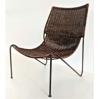1950s Vintage Frederick Weinberg Wicker Lounge Chair Preview
