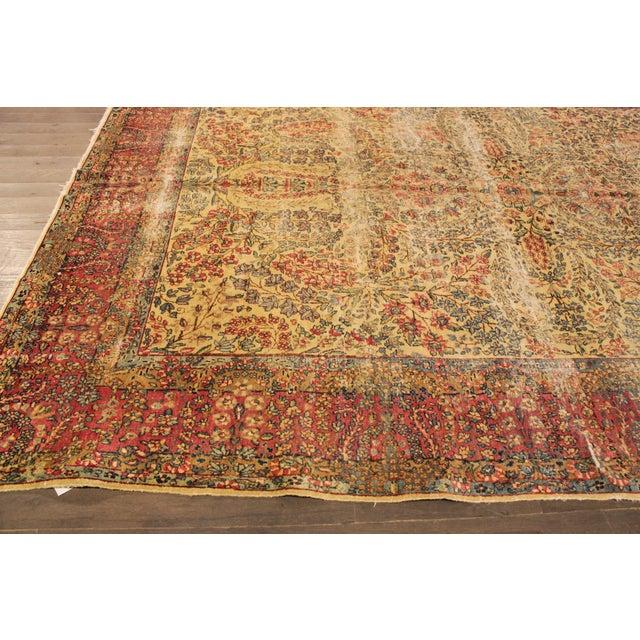 "Apadana Antique Persian Kerman Rug - 7' x 9'11"" For Sale In New York - Image 6 of 9"