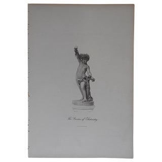"""Antique Engraving """"The Genius of Electricity"""" For Sale"""