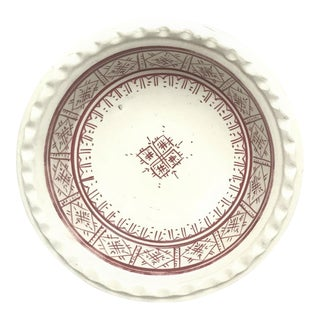 Small Moroccan Ceramic Coupe Plate - Cupcake Holder For Sale