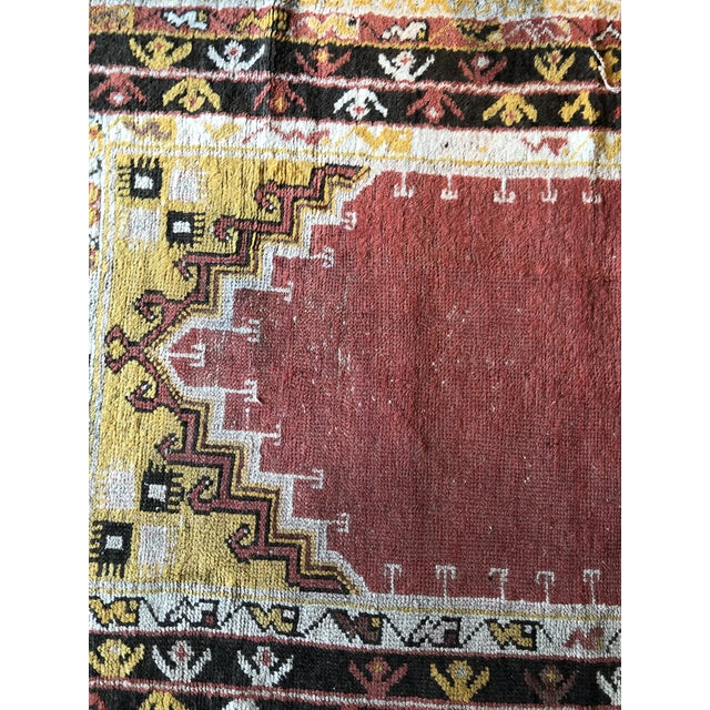 Textile Antique Turkish Wool Prayer Rug For Sale - Image 7 of 9