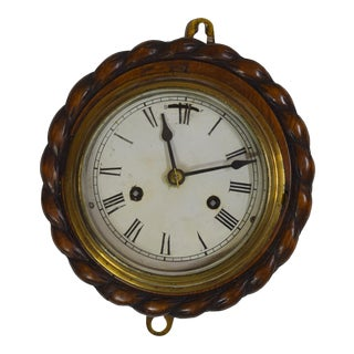 Vintage English Carved Oak Clock