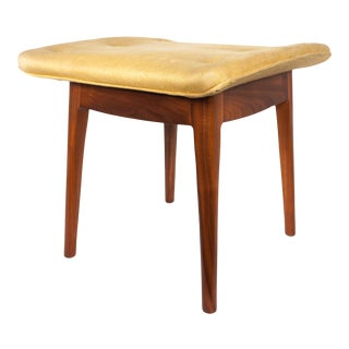 1960s Mid Century Kipp Stewart for Drexel Declaration Walnut Stool For Sale