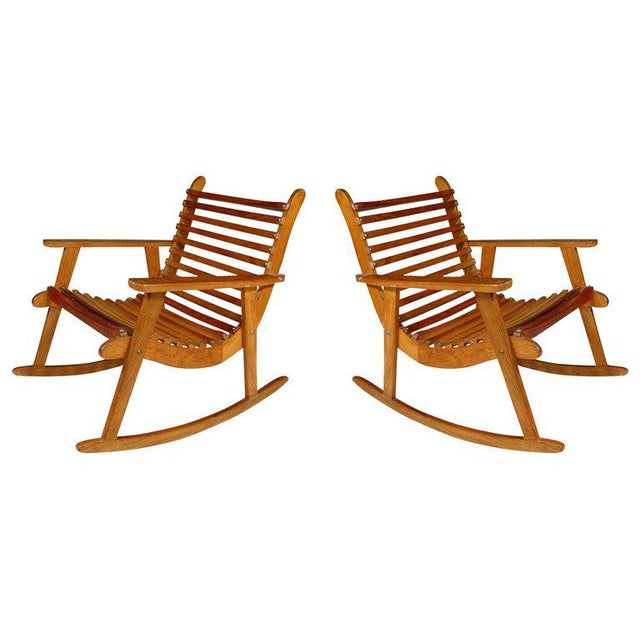 Michael Van Beuren Easy Rocking Chair, Pair for Domus For Sale - Image 4 of 4