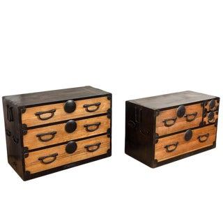 *Antique Two Piece Japanese Tansu