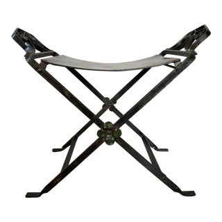 Antique Oscar Bach Iron Vanity Stool For Sale
