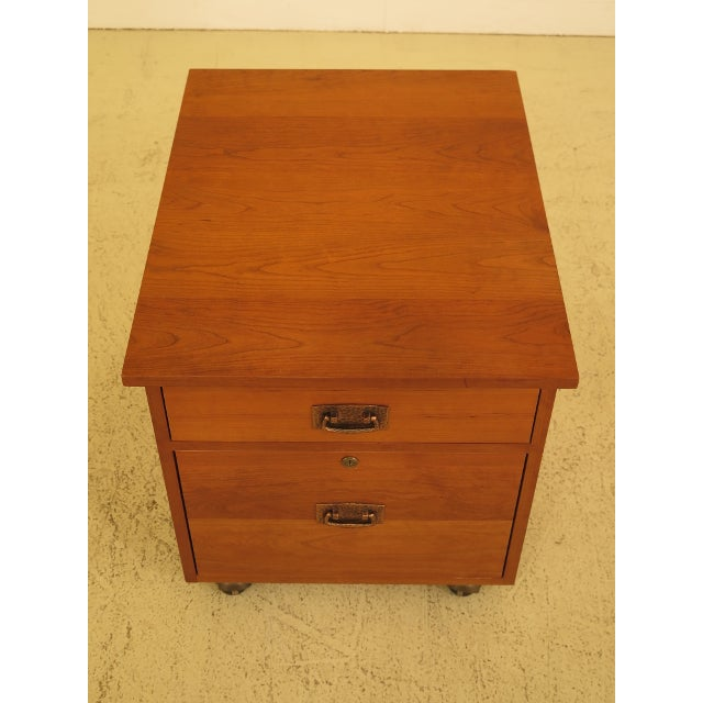 Item: 29979EC: STICKLEY Mission Arts & Crafts Style Cherry File Cabinet Age: C.2003 Details: Solid Cherry #713 Finish...