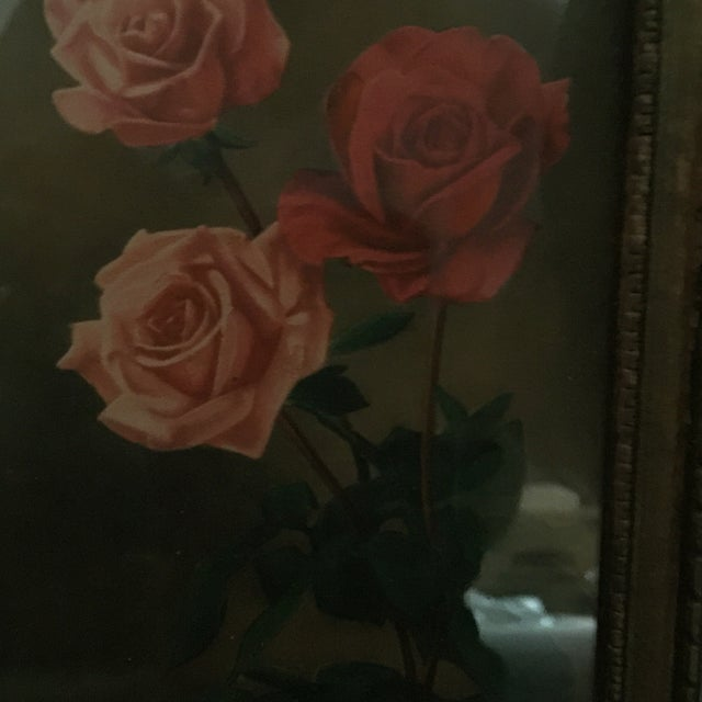 """Roses With Greenery"" Painting - Image 4 of 5"