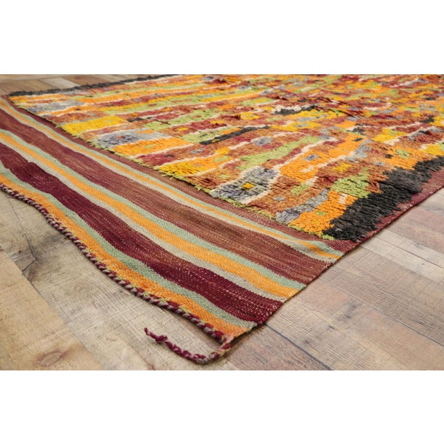 Vintage Berber Ait Bou Ichaouen Moroccan Rug - 5'4 X 13'4 For Sale In Dallas - Image 6 of 10