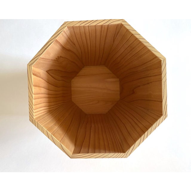 Wonderful trash can handmade from Japanese hinoki cedar for Sunah Home.