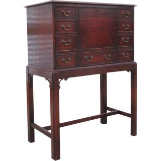 English Antique Drop Front Writing Desk For Sale