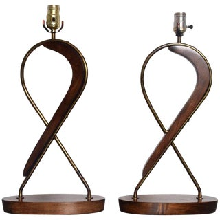 Mexican Modernist Sculptural Table Lamps by Eugenio Escudero, 1950s For Sale
