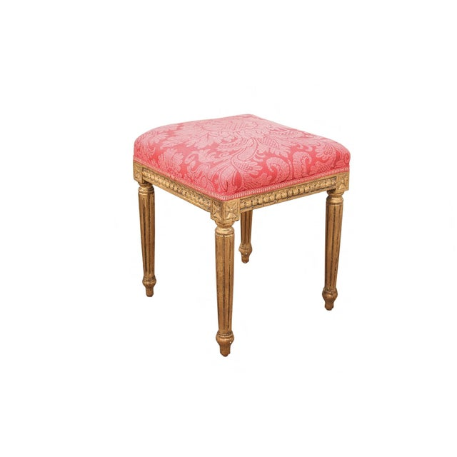 French Style Gilt Vanity & Coordinating Stool For Sale - Image 10 of 13
